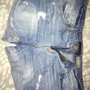 Aero jean midi shorts